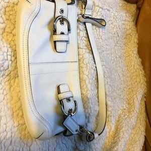 White Coach Short Small Shoulder Bag